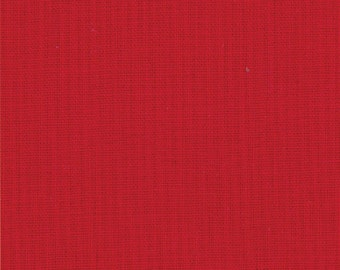 Bella Solid Fabric from Moda, Deep Red