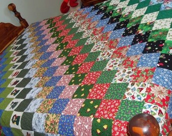 Scrappy Christmas quilt top