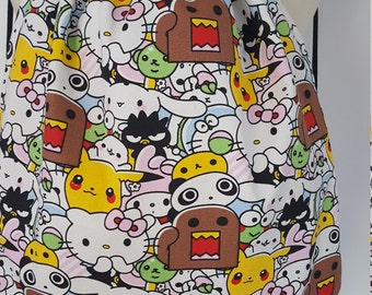 "BACK SAC-handmade back pack-""Domo/Pikachu/Hello Kitty"""