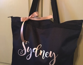 Personalized tote monogrammed tote monogrammed bag personalized bag bridesmaid bag bridal totes