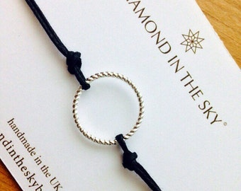 Circle Karma Cord Friendship Bracelet (Other colours available)