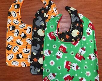 Holiday Baby Bib Set!