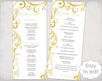 half page wedding program templates free selo l ink co