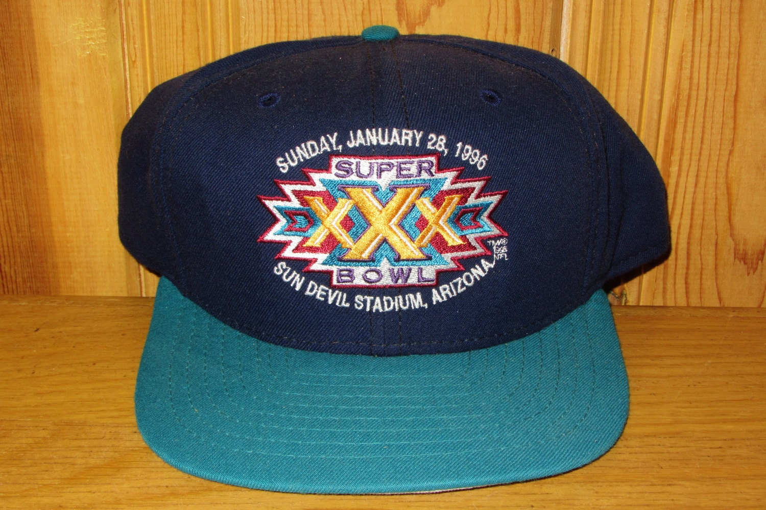 f04e4fe8a99 Super Bowl XXX Official Licensed NFL New Era Snapback Hat Low Profile  Vintage 90s Cap Sunday Jan 28 1996 Dallas Cowboys Pittsburgh Steelers