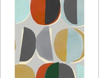 Cotton Fat Quarter Makower Geometrics Large Lozenges on Grey