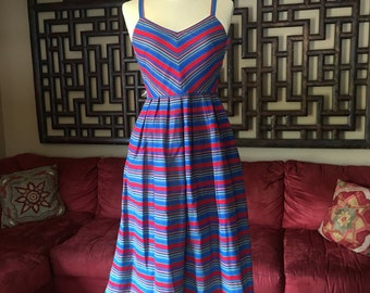 Vintage Striped Lanz Sundress