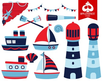Nautical Digital Clipart for Personal and Commercial Use