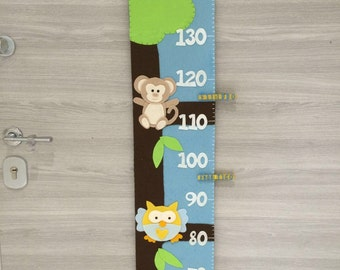Metro from wall for the kids room, wall meter for children