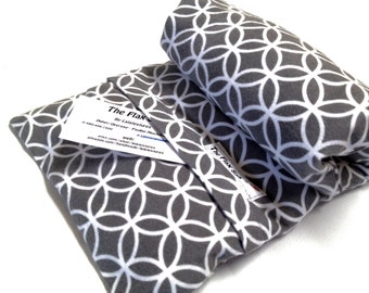 """FLAX HEATING PAD,  Microwavable""""The Flax SaK"""" Choice of brushed Flannel, cotton washable covers, Flax seed Bag, Great Gift, 100 % Flax seeds"""
