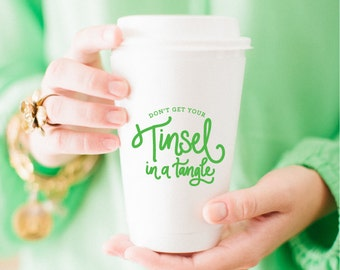 Tinsel in a Tangle Coffee Cup (Set of 10)