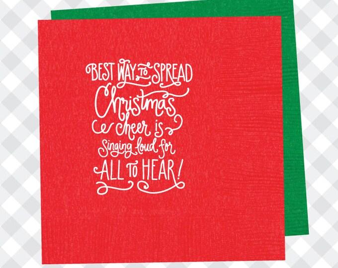 Christmas Cheer Napkins (Qty 25)