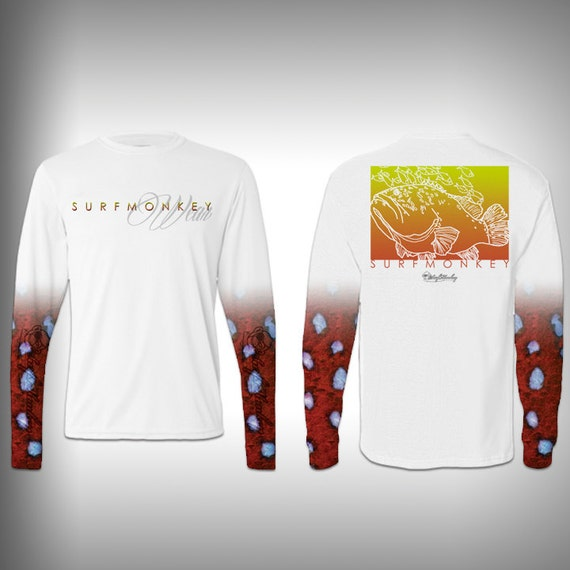 Mens tshirt unisex tshirt grouper fish scale sleeve custom for Fish scale shirt