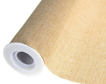 Faux Burlap Roll, Natural, 19-Inch, 5 Yards