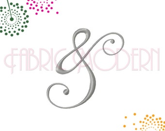 AMPERSAND Embroidery Design,1 inch to 7 inch sizes, pair with monogram letters or names, #643