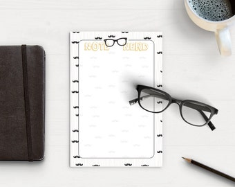 NOTE NERD Notepad - Take Notes, Hipster Notepad
