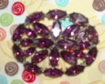 Vintage Purple Amethyst Brooch Pin Jewelry