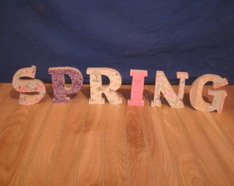 Spring decor, Spring, wooden letters- spring home decor, seasonal wood letters, spring decorations