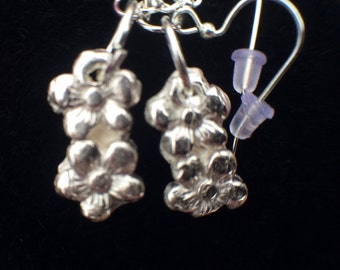PMC3 pure silver wire earrings