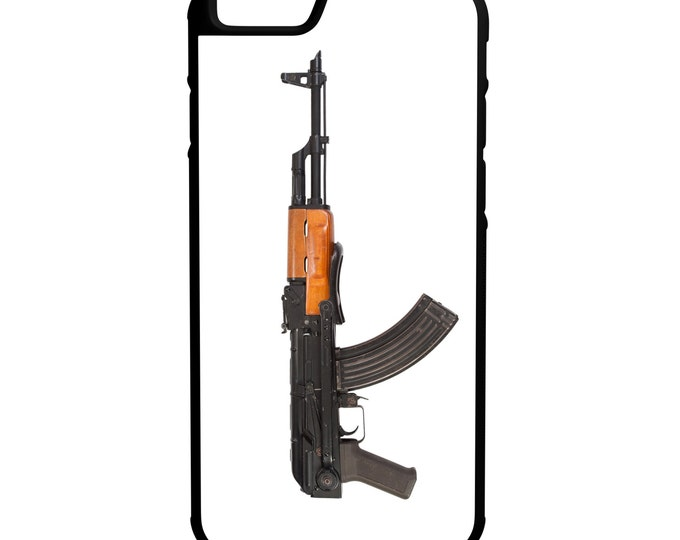 AK47 Assault Rifle iPhone Galaxy Note LG HTC Hybrid Rubber Protective Case 2nd Amendment