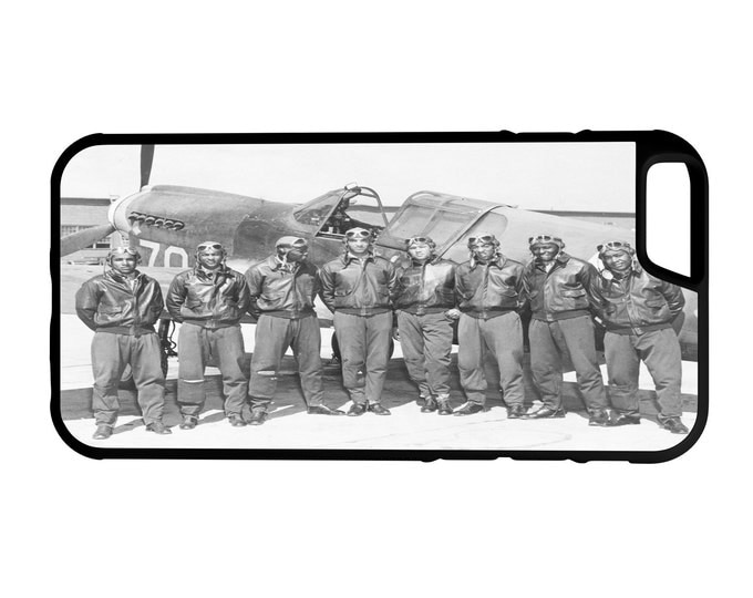 Tuskegee Airmen iPhone Galaxy Note LG HTC Protective Hybrid Rubber Hard Plastic Snap on Case Black