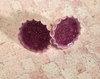 Mini Bottlecap Earrings - Bubblegum