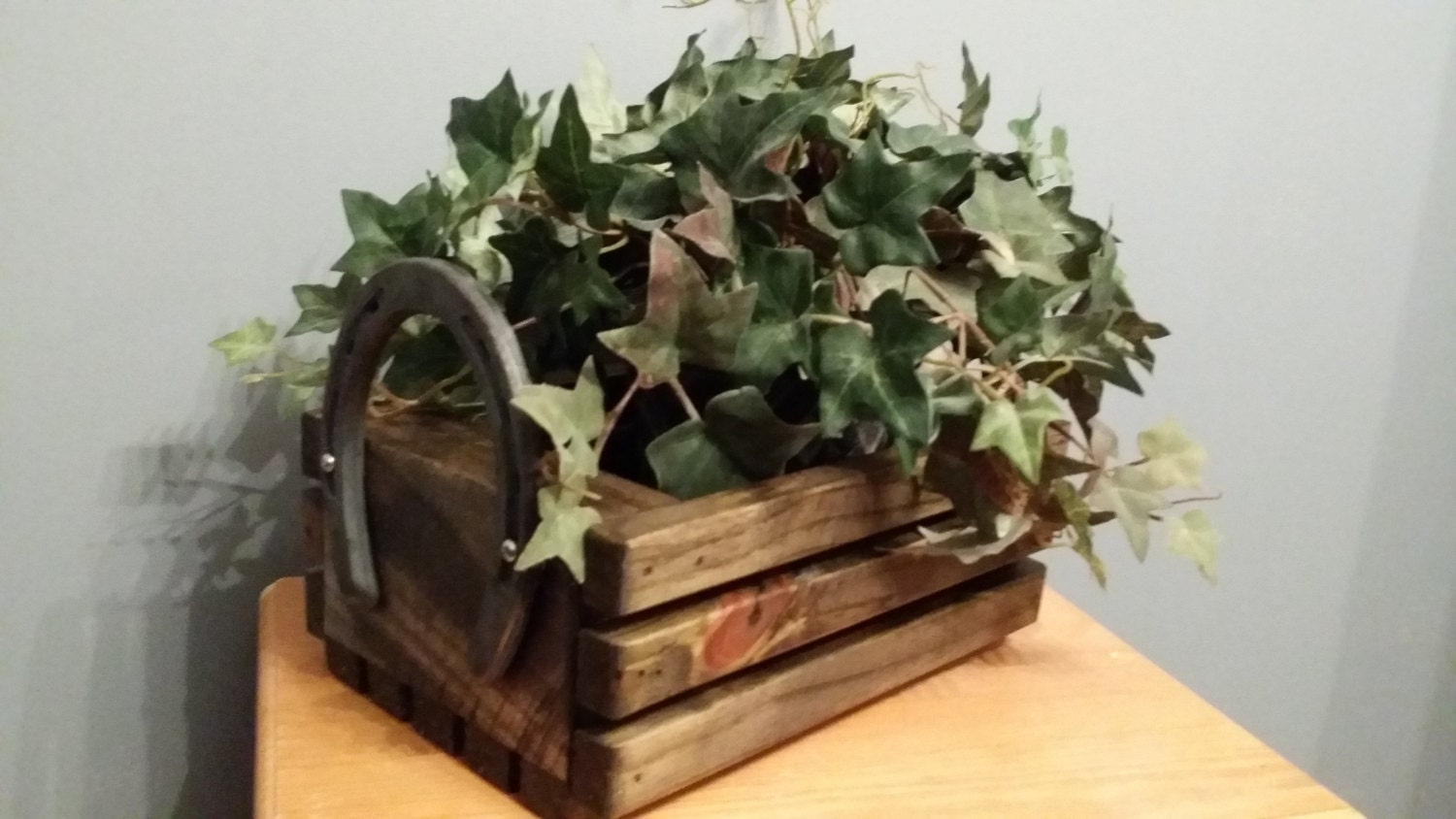 Rustic centerpiece serving tray bread roll box wood
