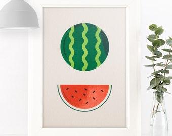 "Watermelon Giclée Art Print 7 x 5"" / 8 x 10"""