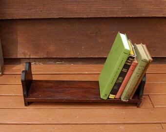 Wooden Book Holder, Vintage Wood Book Rack, Long Desk Top Book Stand, Desktop Book Holder, Vintage Book Rack