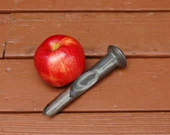 Tin Apple Corer, Vintage Metal Apple Corer, Cottage Kitchen Gadget, Tinware Apple Corer