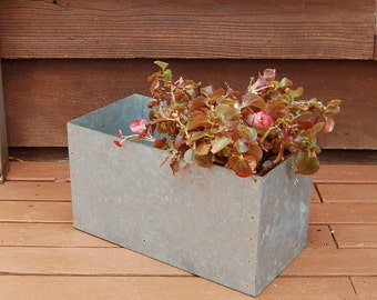 Galvanized Box, Galvanized Garden Box, Galvanized Planter Liner Box