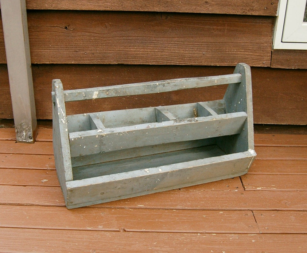 Wooden Tool Box Vintage Wood Tool Box With Top Tray Dark