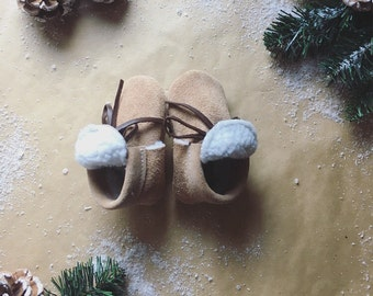 Taupe Suede Sherpa Boots