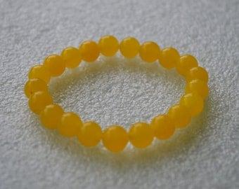 Yellow Jade Bracelet, Wrist Mala, Mala Beads, Chakra Balancing Bracelet, Yoga Bracelet, Prayer Beads, Healing Bracelet, Chakra Bracelet