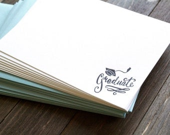 Graduate - Set of 8 letterpress notecards