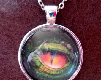 Serpentine Dragon's Eye Pendant