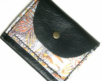 Leather credit card holder. Leather card purse. Black leather Oyster card holder. Leather purse. Leather card pouch.