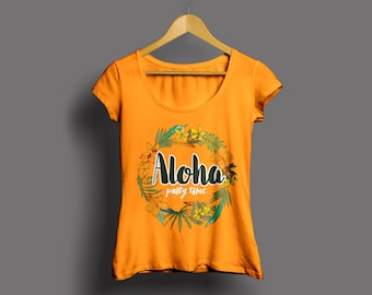 Bachelorette t-shirt-ALOHA-MODEL (price is for the purchase of 5 shirts)
