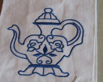 Teapot guest towel