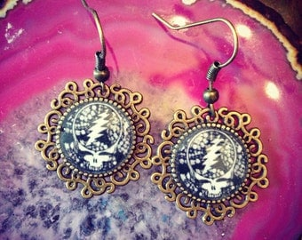 Grateful dead earrings
