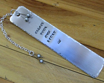 Create Your Own Story Stamped Metal Bookmark