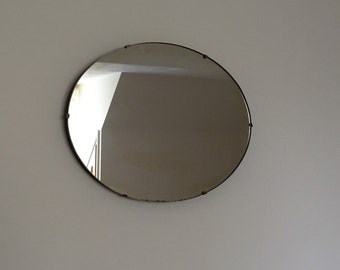 1930's Oval mirror