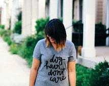PRE ORDER Dog Hair Don't Care Hand Lettered Unisex V-Neck T-shirt