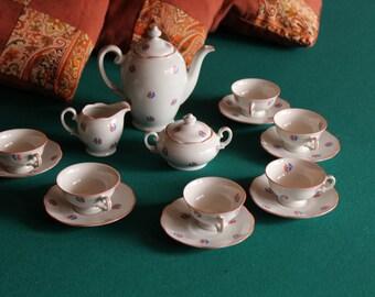 Vintage KPM porcelain tea service
