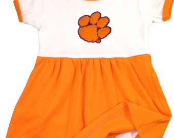 Clemson Tigers Baby Bodysuit Dress