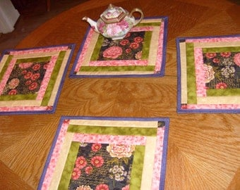 Square placemats etsy for Small square placemats