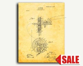 Patent Art - Bicycle Lock Patent Wall Art Print