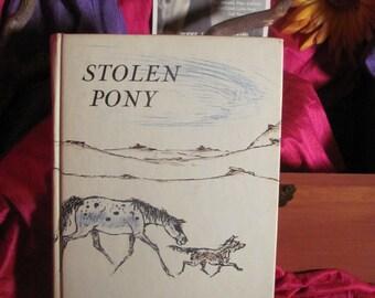 Vintage Hard Cover Stolen Pony by Glen Rounds Prestige Condition