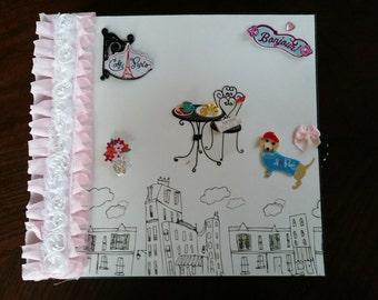 Paris Theme chipboard Mini Album