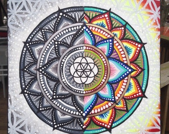 Square Split Color Mandala