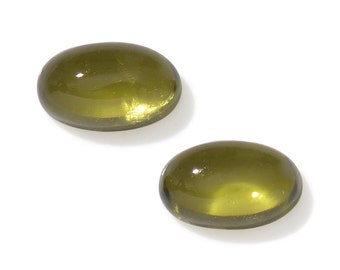 Italian Idocrase Set of 2 Oval Cabochon Loose Gemstones 1A Quality 5x3mm TGW 0.50 cts.